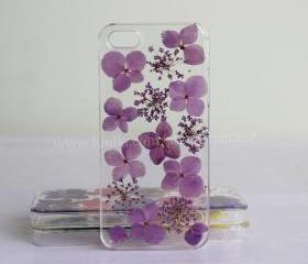 Purple Pressed Flower iphone 6 case Real Flower iphone 6 plus case iphone 5s case iphone 5 case iphone 5c case iphone 4s 4 case